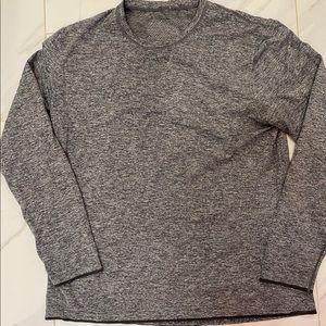 Men XXL Grey Lululemon Athletica Long Sleeve Shirt